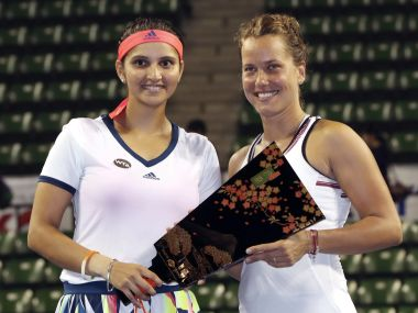 Sania Mirza and Barbora Strycova have won their second title in three attempts. AP