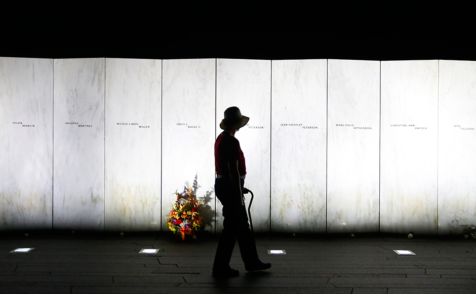 40 passengers and the crew of the hijacked Flight 93 were among the victims of the attacks. AP