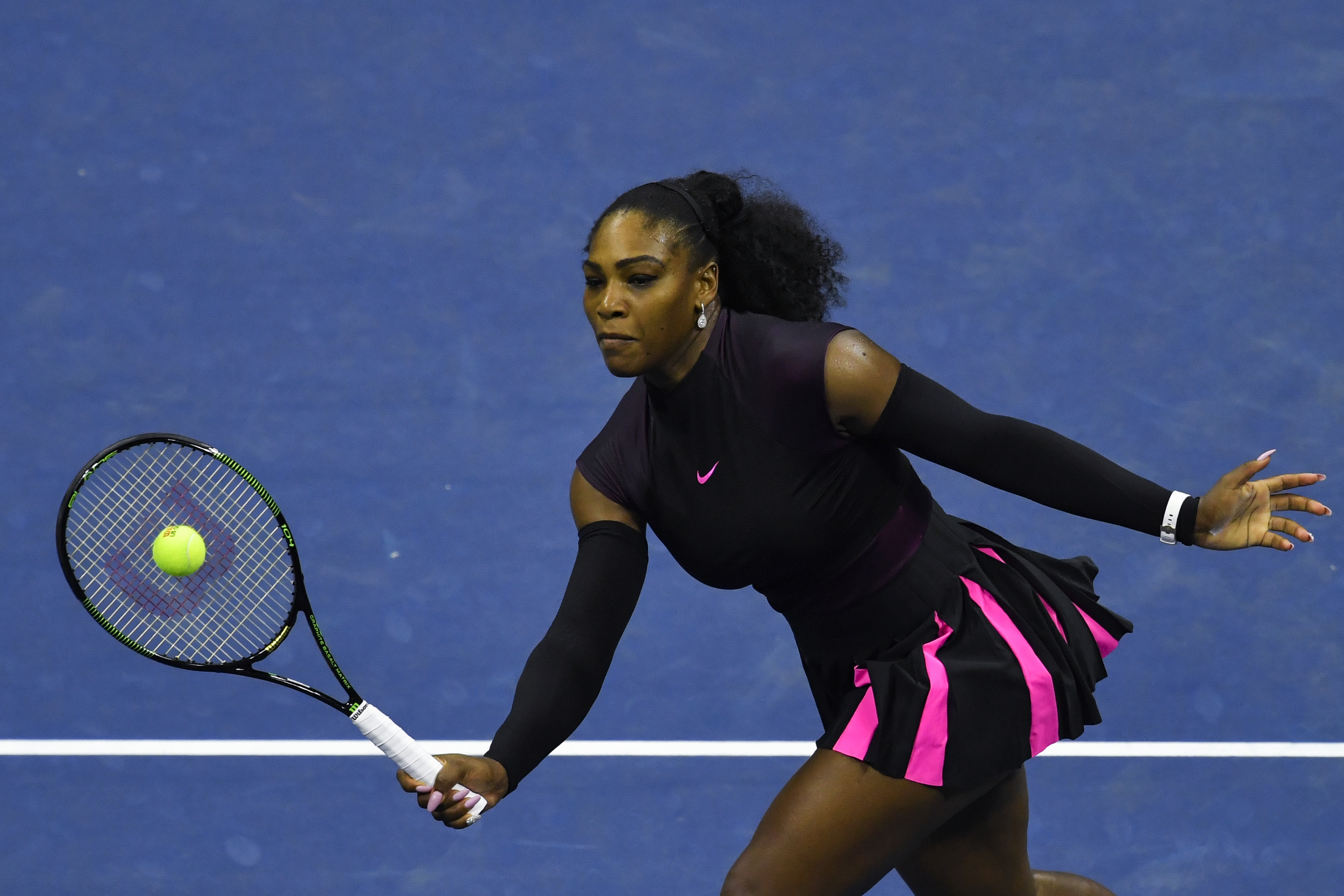 Serena Williams of United States in action. AFP