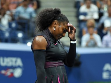 Serena Williams lost in the US Open semi-final, losing her World No 1 rank after 186 weeks. AFP