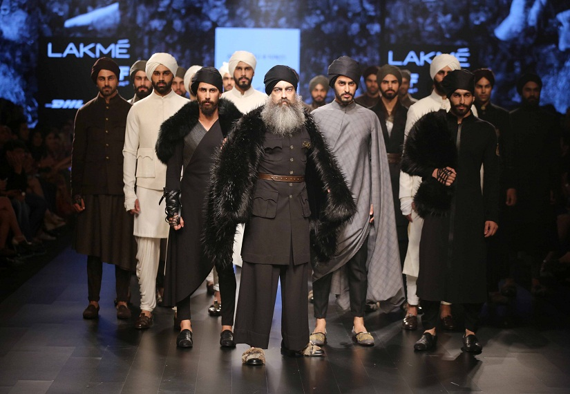 Models at a show for designers Shantanu and Nikhil at the recently concluded Lakme Fashion Week. Male models earn comparatively lower paycheques than their female counterparts.