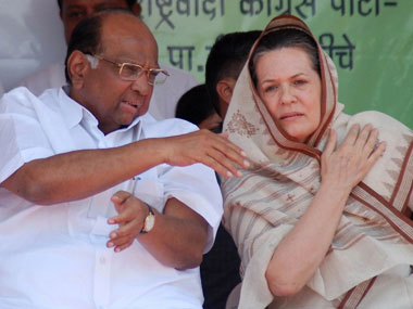 File image of NCP leader Sharad Pawar and Congress President Sonia Gandhi. AFP