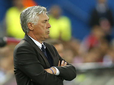 Bayern's head coach Carlo Ancelotti during the Champions League match against Atletico Madrid. AP