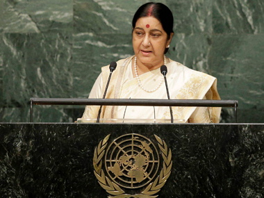 A file photo of Sushma Swaraj. PTI