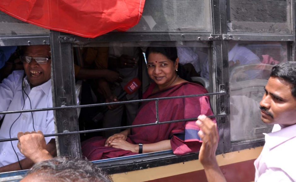 Police on Friday detained DMK leader Kanimozhi who was protesting along with the other party workers during the day long bandh in Tamil Nadu over the Cauvery water issue. V Srinavasulu
