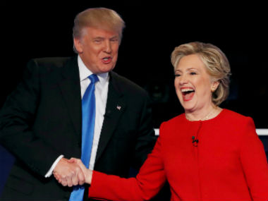 Donald Trump with Hillary Clinton. Reuters