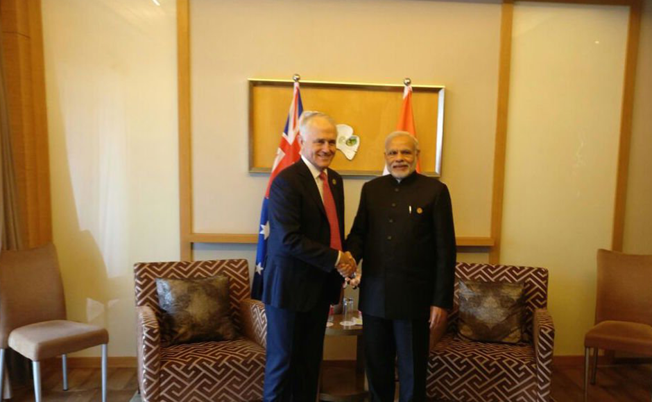 Twitter-handle-of-@narendramodi---Delighted-to-meet-PM-@TurnbullMalcolm.-We-discussed-aspects-of-India-Australia-relations-&-how-to-strengthen-them.