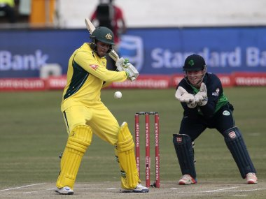 Australia's batsman Usman Khawaja plays a shot during Australia against Ireland. AFP
