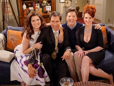 Debra Messing, Eric McCormack, Sean Hayes and Megan Mullally. Image courtesy: Twitter