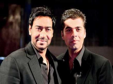Bad blood: Ajay Devgn and Karan Johar. Image courtesy News18