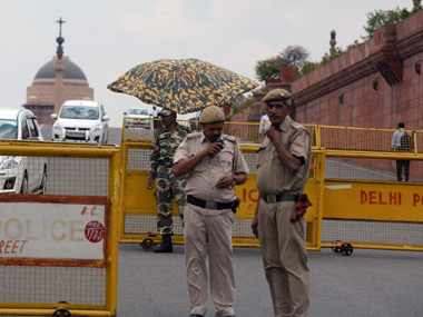 Representational image of Delhi police. AFP