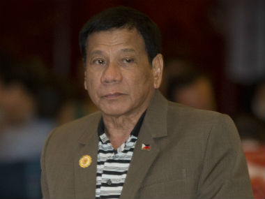 A file photo of Rodrigo Duterte. AP