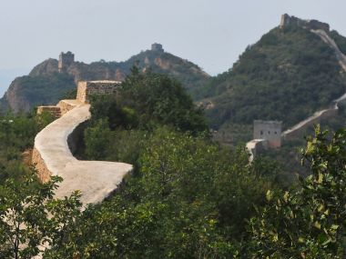 A file image of restored section of the Great Wall in Suizhong County in northeastern China's Liaoning Province. AP