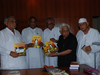 KL Zakir (second from right) being feted by the Haryana government