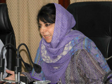 File image of Jammu and Kashmir Chief Minister Mehbooba Mufti. PTI