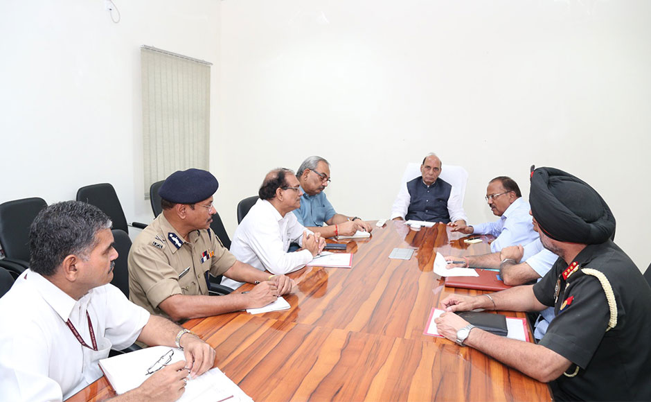 "Rajnath Singh reviewed the security situation in Jammu and Kashmir in the wake of the terror attack. Expressing deep disappointment with Pakistan's 'continued and direct support to terrorism and terrorist groups', Home Minister Rajnath Singh in a series of tweets said, ""Pakistan is a terrorist state and it should be identified and isolated as such."" PTI"