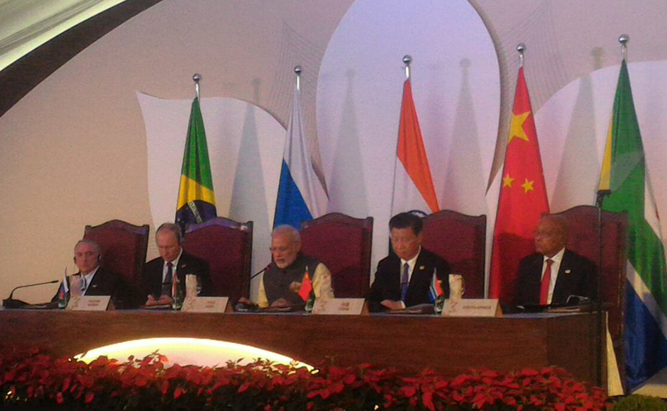 "Calling Pakistan a ""mothership"" of terrorism worldwide, Prime Minister Narendra Modi on Sunday sought decisive global action such as systematically cutting off funding, weapons supply, training and political support to terror outfits and asserted that selective approach to deal with the menace will be not only futile but also counter- productive. Summit leaders meet at the Brics Business Council. (Photo: Twitter@Brics2016)"