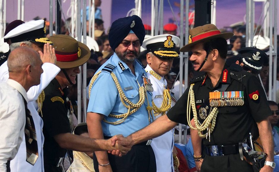 Army chief Dalbir Singh Suhag at the 84th Air Force Day parade. The Air Force Day is celebrated to commemorate the day the force was officially established, October 8, 1932. Naresh Sharma