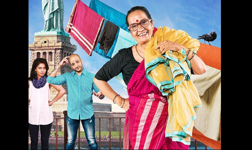 Meena Nerurkar (front, right) in a poster for 'A Dot Com Mom'