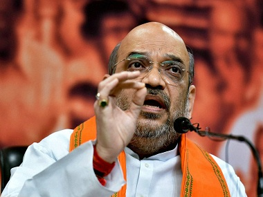 Amit Shah slammed the Opposition leaders criticising Modi's government's war on black money. PTI