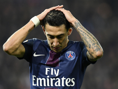 Ligue 1: Paris Saint-Germain winger Angel Di Maria reportedly out for three weeks due to thigh injury