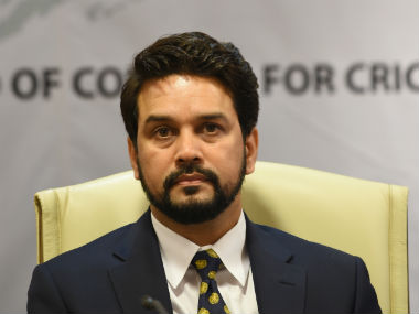 File photo of BCCI president Anurag Thakur. AFP