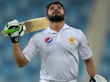 Azhar Ali's unbeaten 302 helped Pakistan achieve a total of 579-3 declared. AFP