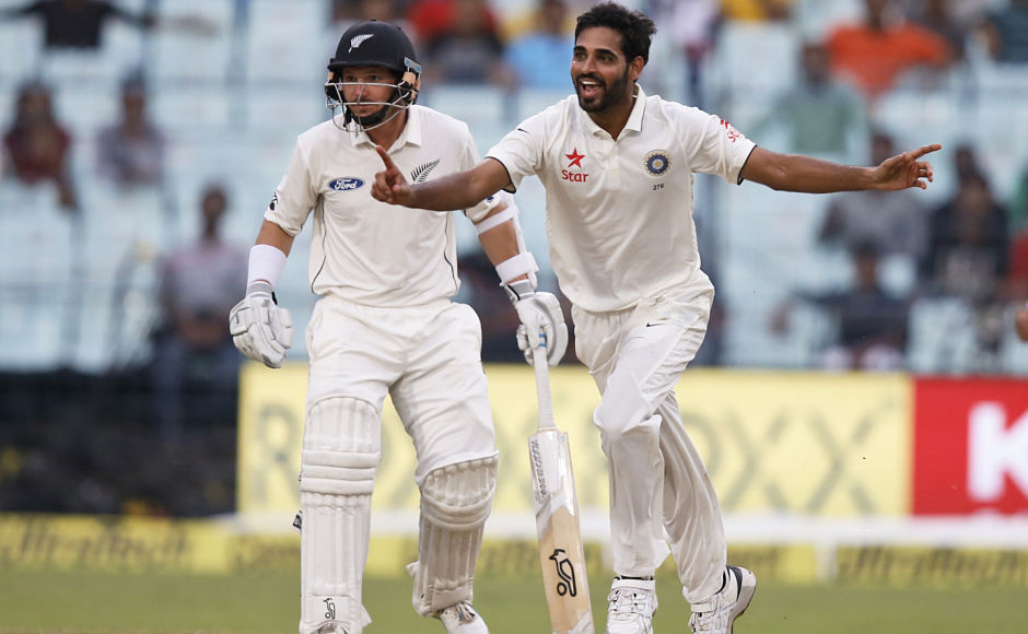Bhuvneshwar then removed Mitchell Santner and Matt Henry off consecutive balls to scalp a five-for. AP
