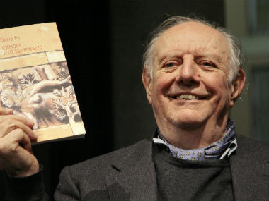 File photo of Dario Fo. Reuters