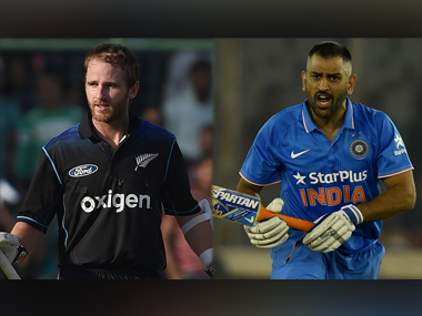 Kane Williamson and MS Dhoni, captain of New Zealand and India respectively. AFP