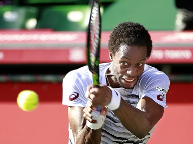 Gael Monfils of France in action at the Japan Open. AP