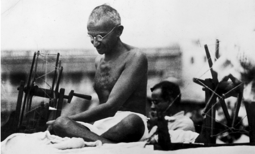 icking various strands of Gandhi's life, Jordens in his scholarly book describes Gandhi's religion as 'large bulky homespun woollen shawl. Getty Images