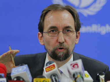 File photo of UN High Commissioner for Human Rights Zeid Ra'ad al-Hussein. AP