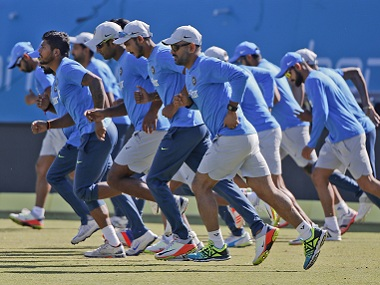 India's criceters train ahead of the first ODI. AP