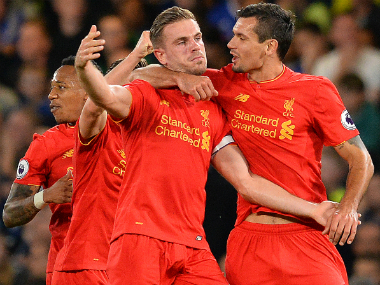 Liverpool's fine form makes them favourites in their home clash against Manchester United. AFP