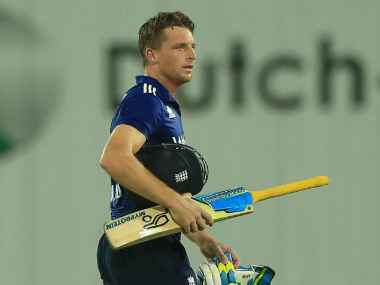 Jos Buttler's reaction to his dismissal caused him trouble. AFP