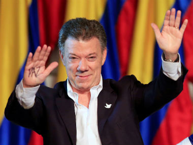 File photo of Juan Manuel Santos. Reuters