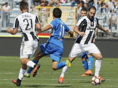 Juventus' Gonzalo Higuain the Serie A match between Empoli and Juventus. AP