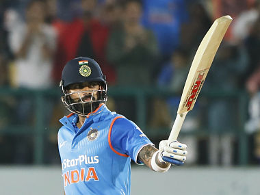 Virat Kohli remained unbeaten on 85 to guide India to victory with six wickets to spare. AP