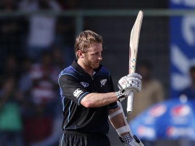 In another of the several firsts, Kane Williamson brought up the first century by a New Zealand batsman in the tour. AP