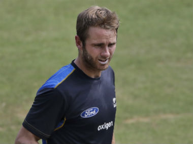 Kane Williamson scored 75 and 25 in the first Test at Kanpur. AP