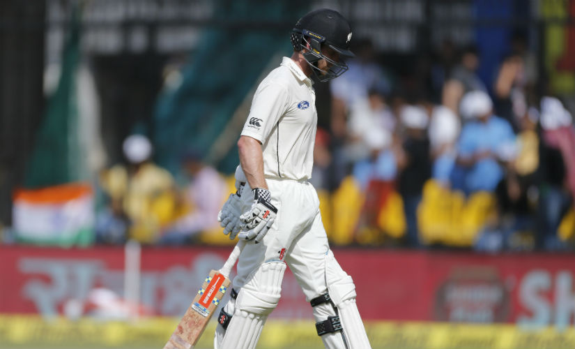 Kane Williamson failed to live up to his fans' and team's expectations in the Test series. AP