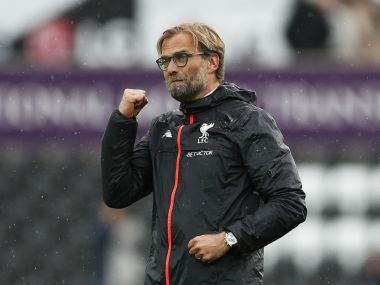 Liverpool manager Juergen Klopp celebrates after the game. Reuters
