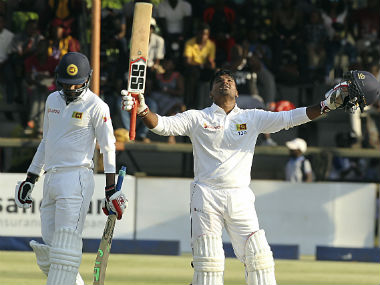 Kusal Perera was dismissed for 110 on Day 1 of the 1st Test at Harare. AP