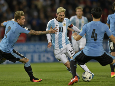 Lionel Messi's absence will certainly be felt by Argentina. AFP
