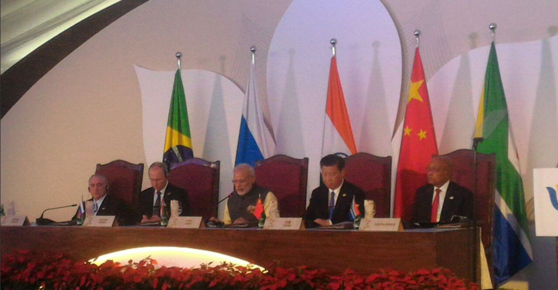 Leaders during the Brics Business Council Meeting. (Photo: MEAIndia)