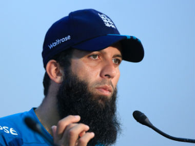 Moeen Ali at a press conference ahead of the 3rd Bnagladesh-England ODI. AFP