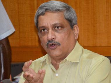 Union Defence Minister Manohar Parrikar. PTI