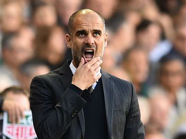 File photo of Manchester City boss Pep Guardiola. AFP