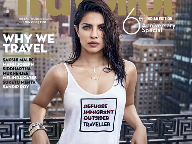 Priyanka Chopra apologises after her controversial refugee tshirt cover